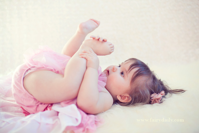 FairyDaily, portrait bebe fille 10 mois en tutu
