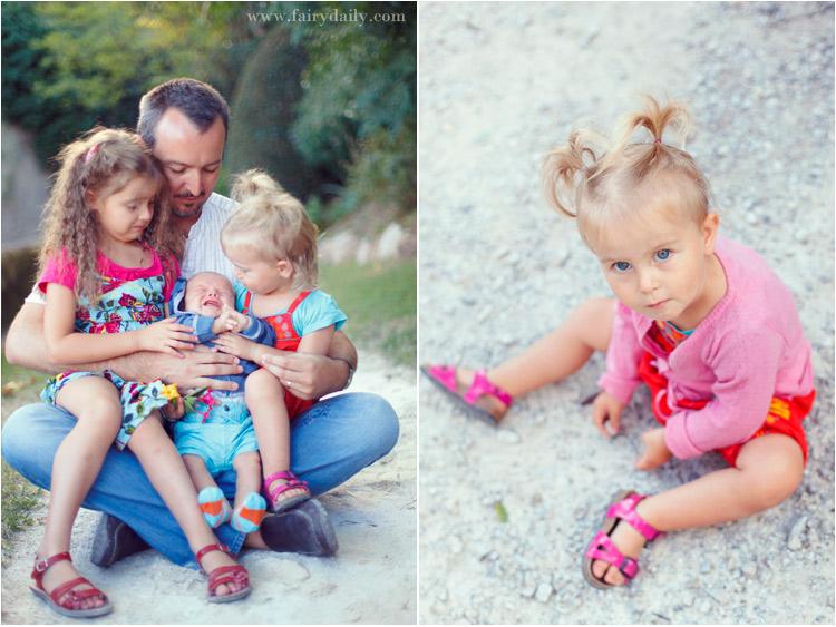fairy daily, photographe famille, homme avec trois enfants