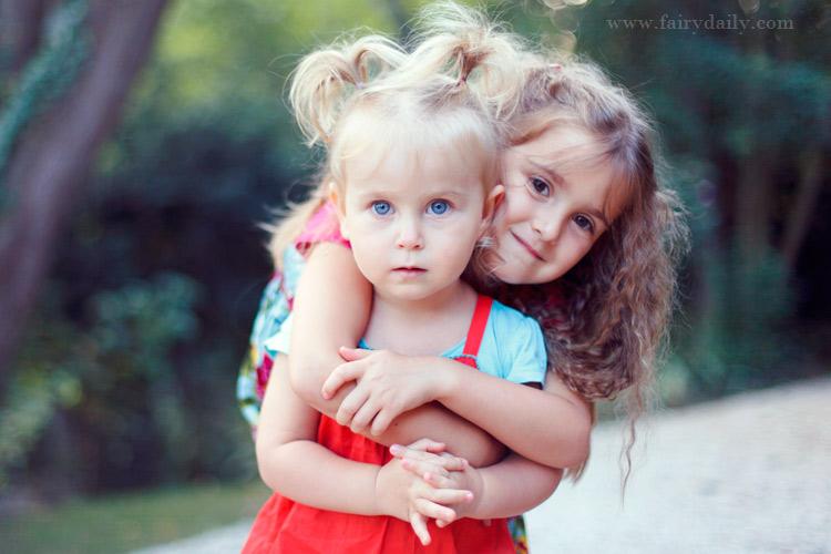 fairy daily, photo de deux adorables petites filles