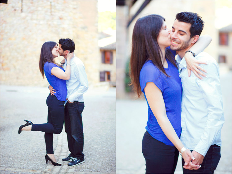 jeune fille embrasse son copain, seance engagement tarn
