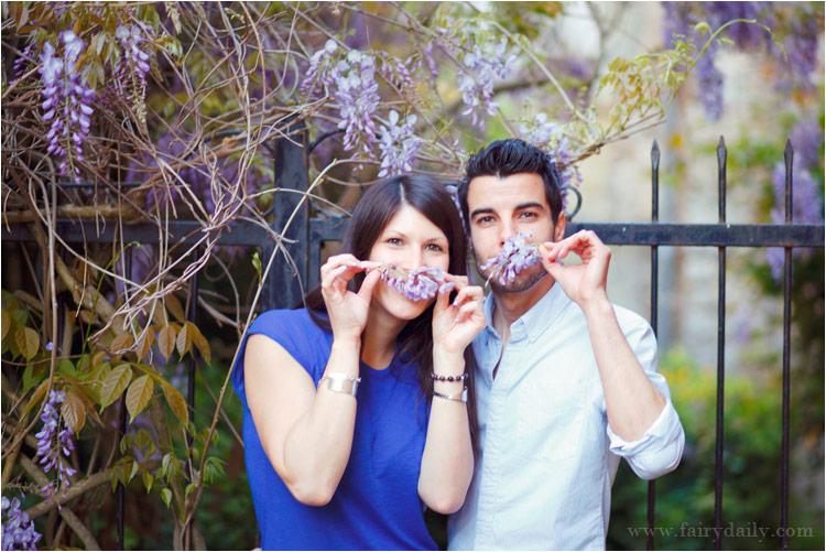 jeune couple sous glycine