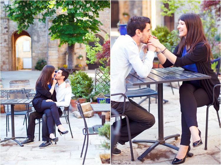 jeune couple dans le cafe, photographe mariage tarn