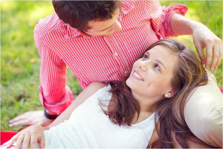 fairy daily, couple, pique nique, tarn, engagement