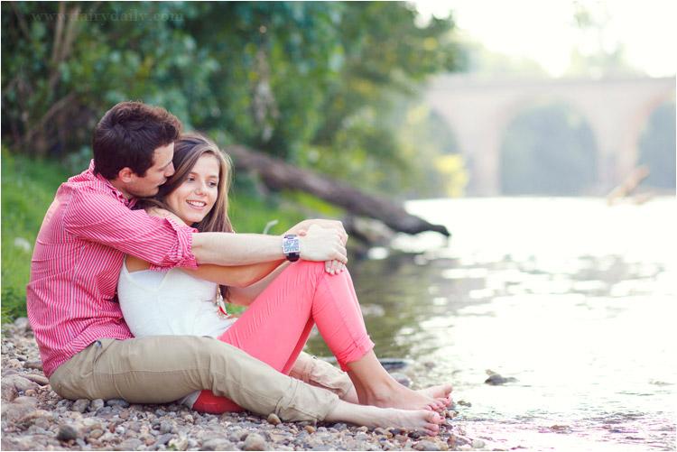 FairyDaily, photographe mariage, couple au bord du tarn