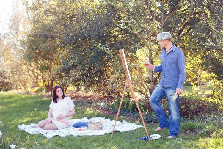 FairyDaily, peintre dessine son épouse enceinte