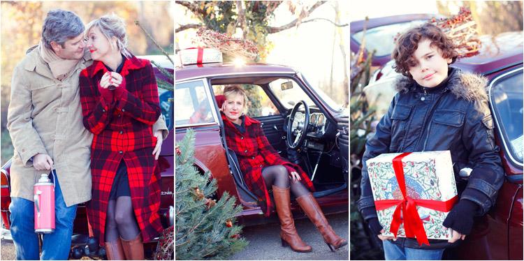 FairyDaily, Elena Tihonovs, couple en hiver, cadeaux de noel, voiture vintage