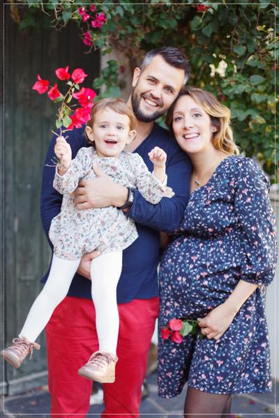 seance photo grossesse famille à Cadaques