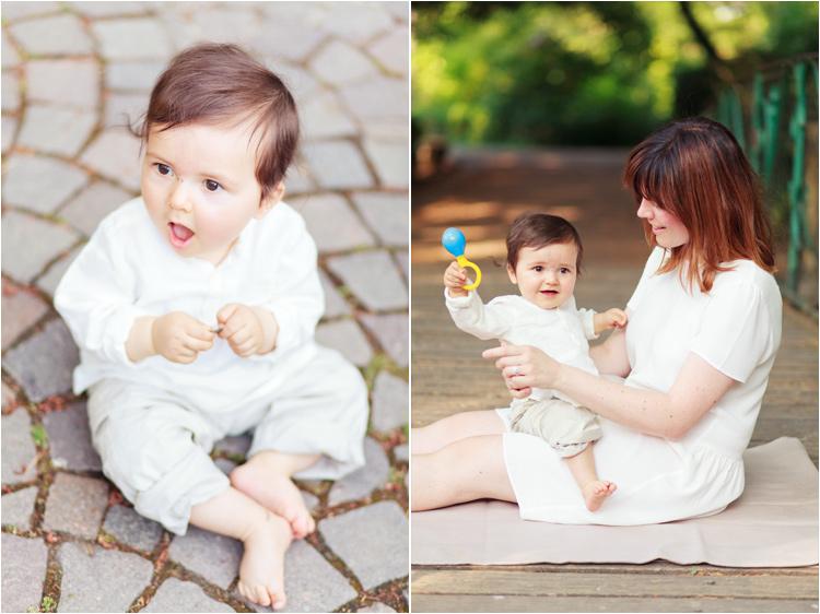photos bébé au Jardin des Plantes